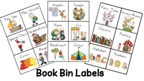 Free Printable Book Bin Labels