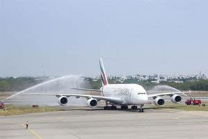 emirates hyderabad emirates a380 says hello hyderabad travel reviews