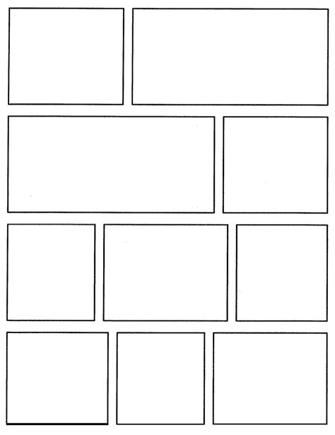 graphic novel template printable comic book template pdfcomic template viewing