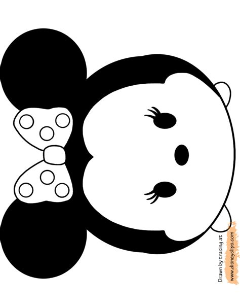 Minnie Mouse Tsum Tsum Coloring Page | disney tsum tsum coloring pages disney coloring book