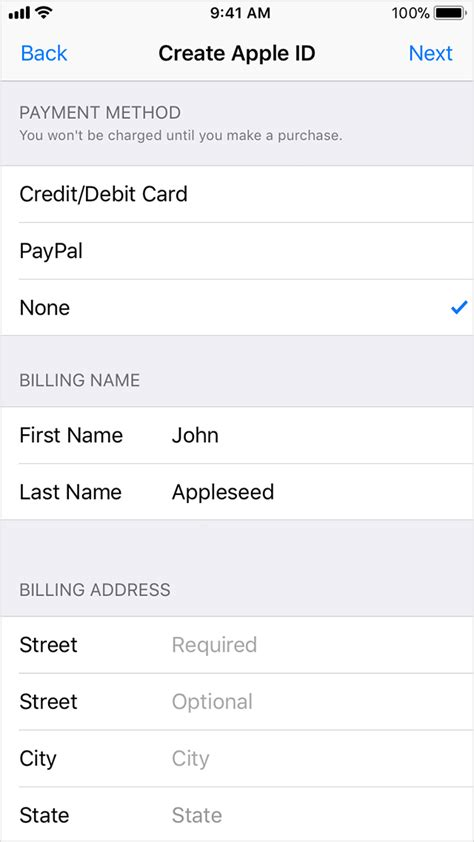 can u make an apple id without a credit card create or use your apple id without a payment method