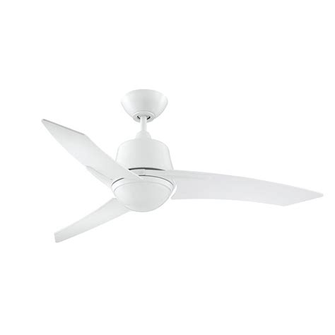 Shop Kendal Lighting Scimitar 44 In White Downrod Mount Ceiling Fan Light Kit White