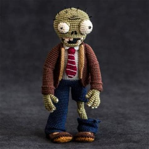 crochet pattern zombie zombie plants vs zombies amigurumi pattern