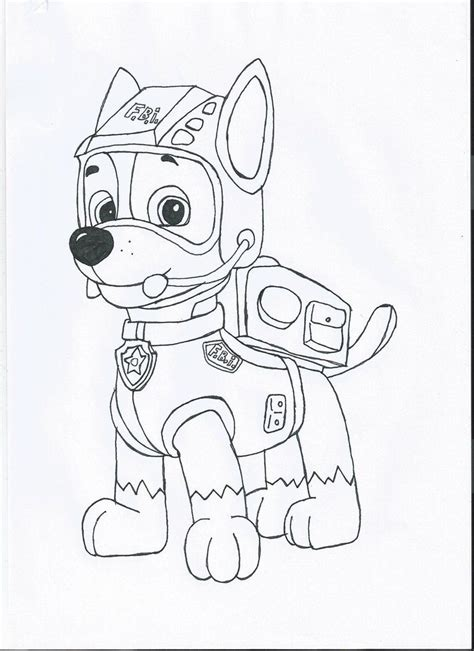 coloring pages of chase from paw patrol paw patrol chase coloring page coloring home