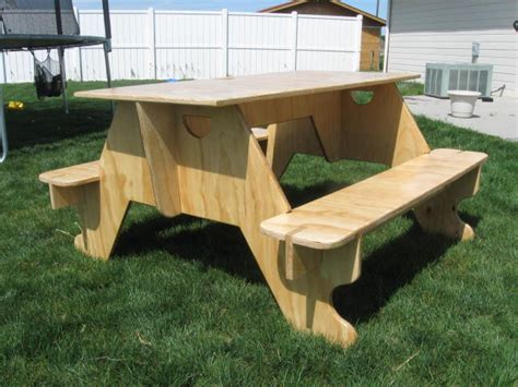 plywood picnic table  tvt  lumberjockscom