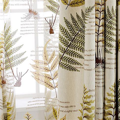 botanical curtains fresh topical botanical pattern beige linen cotton blend