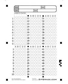 50 Question Answer Sheet Template by Zipgrade Answer Sheet Forms
