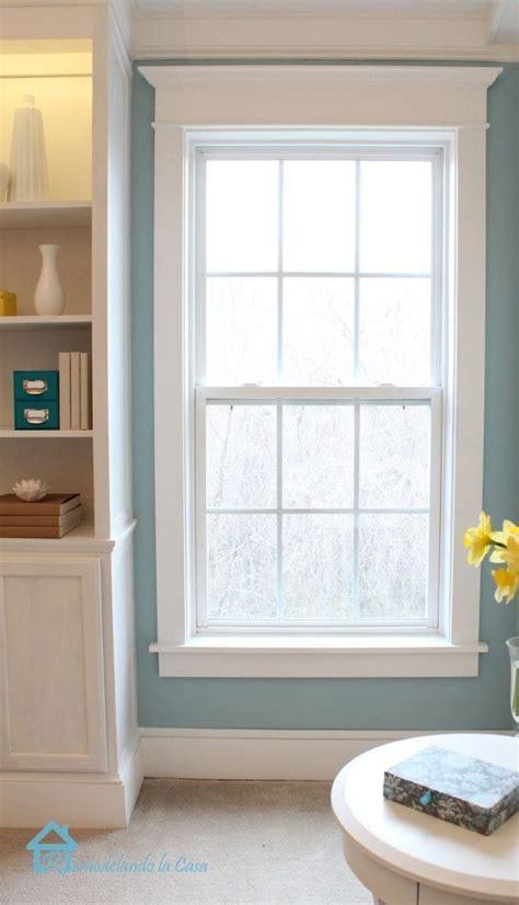 Living Room Window Molding The 25 Best White Window Trim Ideas On Window