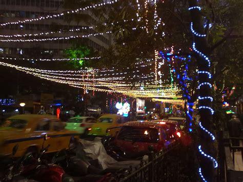 file christmas lights park street kolkata jpg