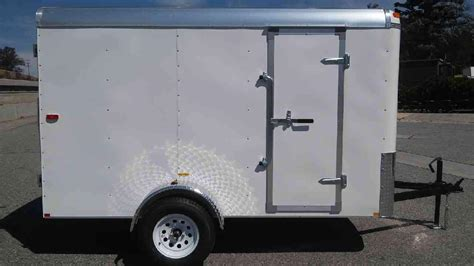 Trailer Back Door by Tnt Transit Tra6x10sa Single Axle Enclosed Covered Trailer