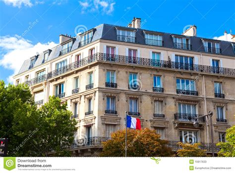 paris house music typical paris house stock photos image 15917633