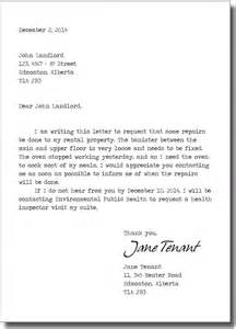 Certification Letter For Tenant repairs landlord and tenant