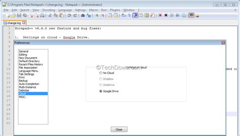 drive notepad notepad 6 6 8 adds google drive support for settings