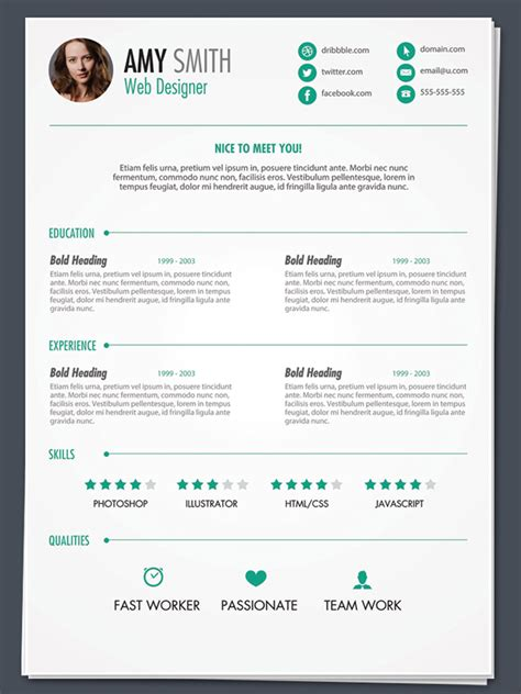 best free resume template 35 best free resume design templates themecot