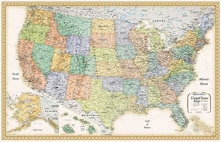 large us map for wall large united states wall map maps for business usa maps