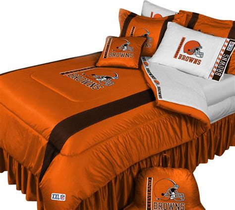 cleveland browns comforter nfl cleveland browns 5 piece bed in bag queen bedding