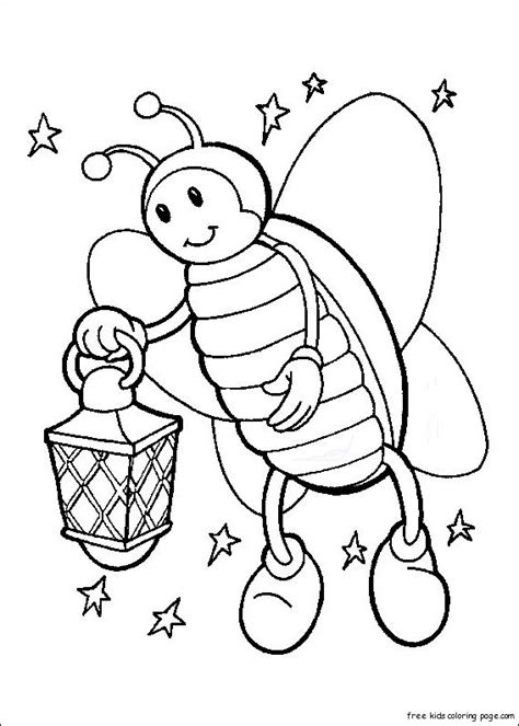 printable firefly coloring pages kidsfree printable