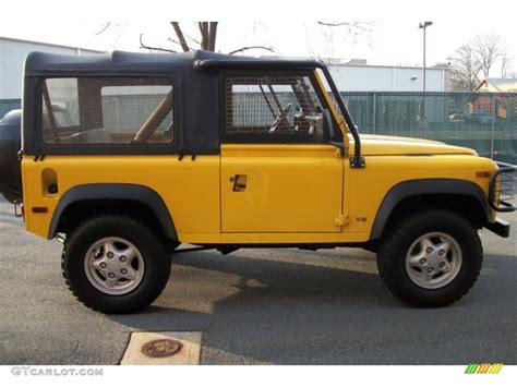 land rover defender 90 yellow aa yellow 1997 land rover defender 90 top exterior