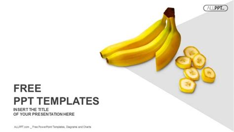 Bananas Whole And Sliced On White Background Powerpoint Food Safety Ppt Templates Free