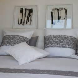 dessus de lit nantes coton blanc et dentelle grise