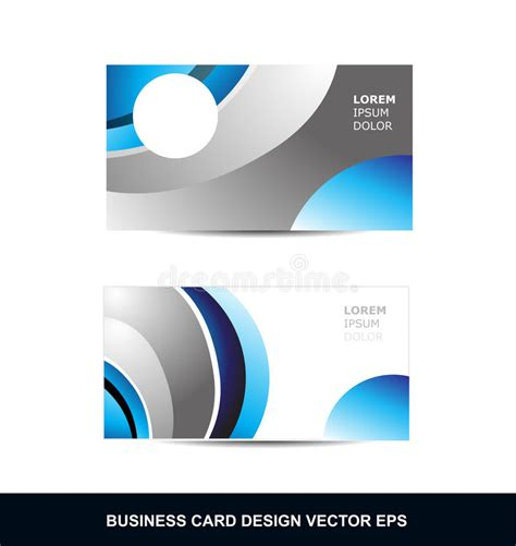 business card template grey blue silver grey business card vector design template