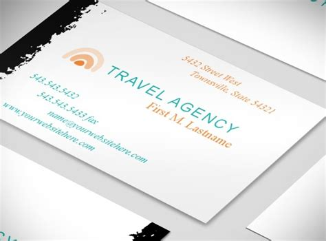 free travel business card templates travel agency services business card templates