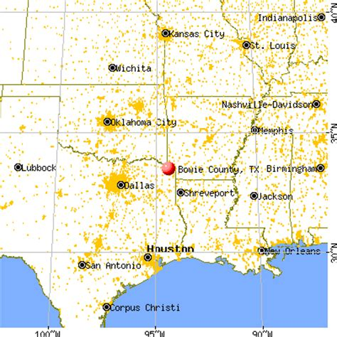 bowie county texas map bowie county texas detailed profile houses real estate cost of living wages work