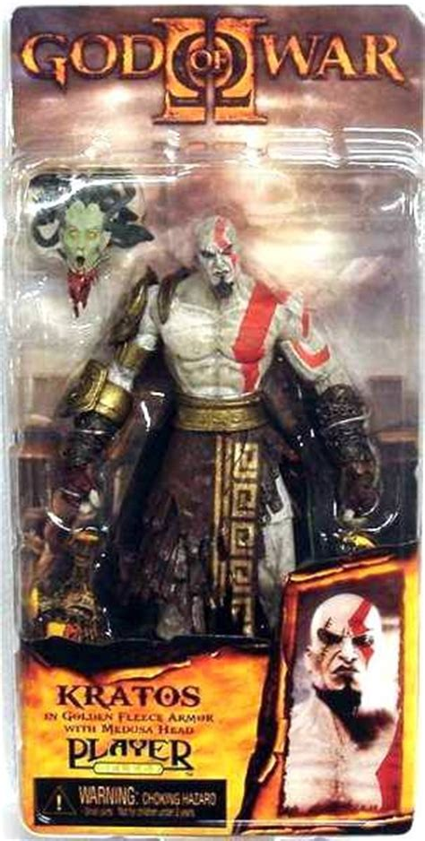 Neca Kratos God Of War With Medusa And Golden Armor Fleece god of war kratos with golden fleece armor with medusa neca player select figure