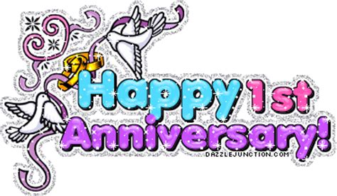 Lilin Happy Birthday Glitter all about my happy 1st year anniversary