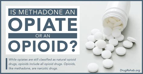 Detox Opiates Using Methadone by Is Methadone An Opiate Or An Opioid