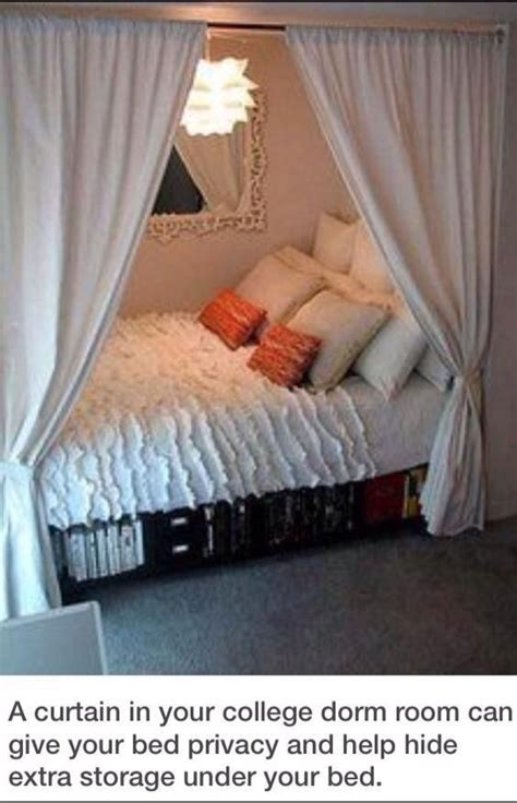 curtains in dorm room for your college dorm room hacks and facts pinterest