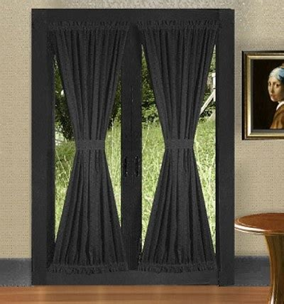 french door panel curtains black french door curtains i want that pinterest