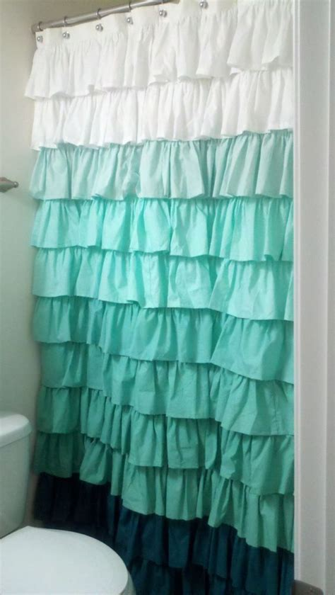 ruffle ombre shower curtain 20 cute mermaid inspired bathroom d 233 cor ideas shelterness