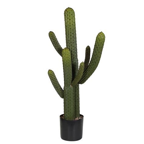 Christmas Plant Decoration Amazing Green 3 5 Foot Artificial Whisker Cactus Potted