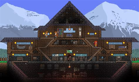 Blueprints For My House pc post your 1 3 base here terraria community forums