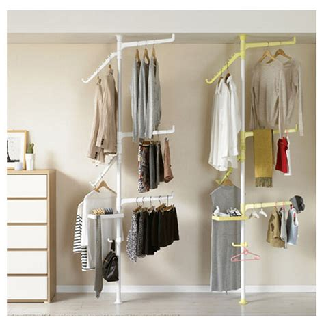 Clothes Pole For Wardrobe - new pole rotation shelves clothes hanger tie bag closet