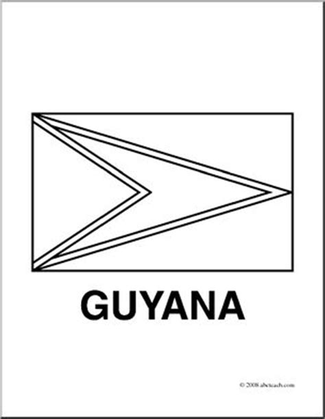 clip art flags guyana coloring page abcteach
