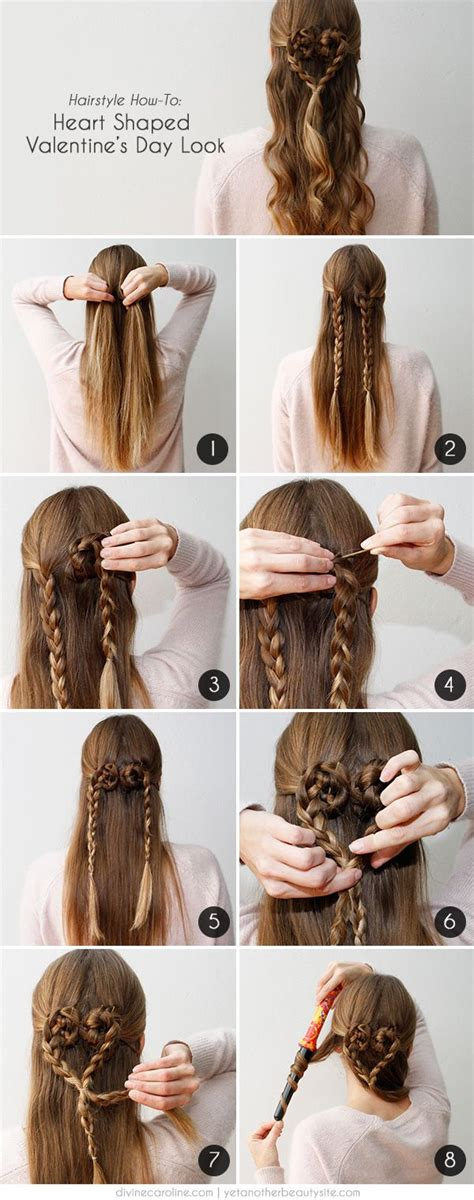 5 romantic hairstyles for valentine s day 5 step by step romantic hairstyles tutorials for valentine