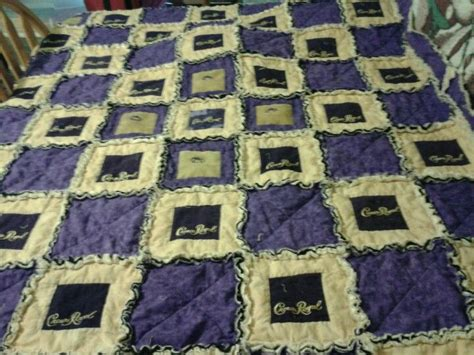 How To Make A Crown Royal Bag Quilt by Crown Royal Bag Rag Quilt Finally Done Crown Royal Bag