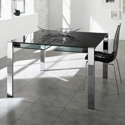 Black Glass Extending Dining Table Livingstone 120cm Black Glass Square Extending Dining Table