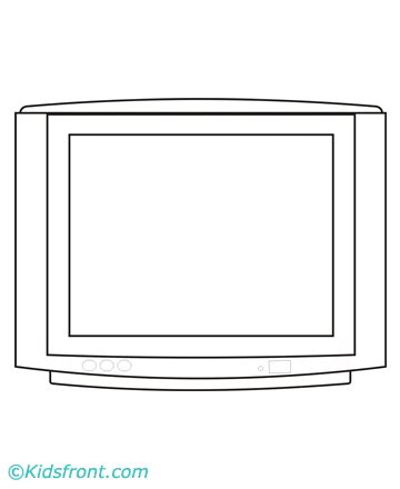 television coloring pages printable