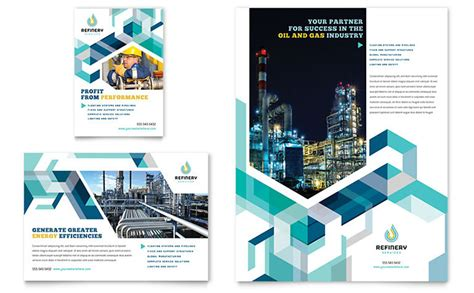 Oil Gas Company Flyer Ad Template Word Publisher And Gas Company Website Template