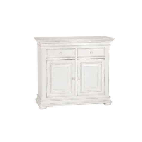 buffet bas 2 portes 2 tiroirs blanc interior s