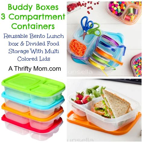 multi section food containers buddy boxes 3 compartment containers 4 pack reusable