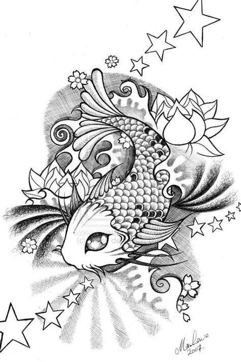 mandala koi tattoo koi by onksy deviantart com pen ink colored pencil