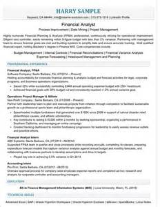 Financial Analyst Resume Sles by Executive Resume Sles Executive Resume Writing Service