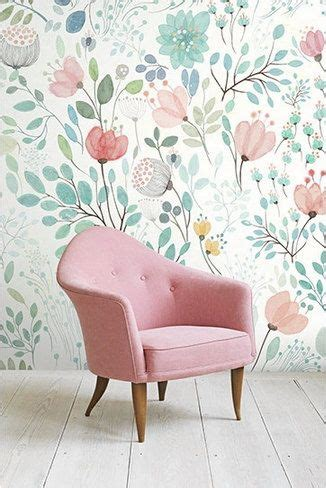 awesome floral background print for bedroom ideas with watercolour flower and on
