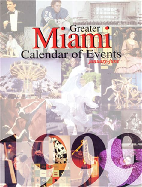 Miami Calendar Of Events Award Winning Cover Design Miami Calendar Of Events On