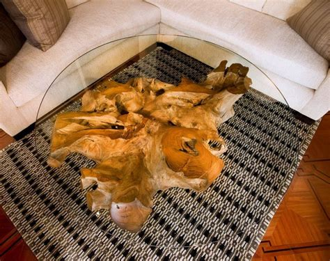 tree trunk glass coffee table tree stump coffee table