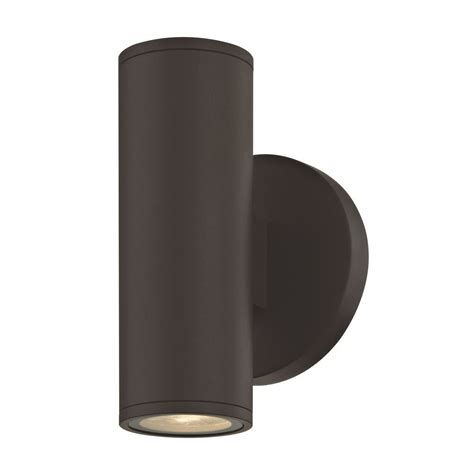 up down bronze cylinder outdoor wall light led cylinder outdoor wall light up down bronze 3000k